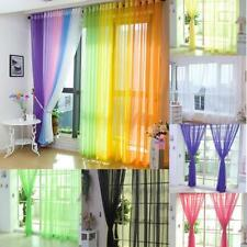 Valances Tulle Voile Door Window Curtain Drape Panel Sheer Scarf Divider 14Color