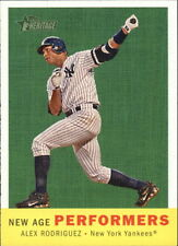 2008 (YANKEES) Topps Heritage New Age Performers #NAP7 Alex Rodriguez