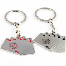 1PC Creative Black Red Poker Keychain Car Key Chain Ring Cool Gift New
