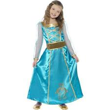 Girls Medieval Maiden Fancy Dress Costume / Maid Marion Blue