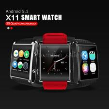 X11 Smart Sport GPS 3G/2G Watch Phone Android Pedometer Heart Rate WiFi T0H3