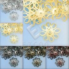 20g Appr.60pcs Metal Flower Bead Caps Spacer Jewelry Findings Lots 21x21x5mm