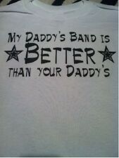 Daddy's band funny toddler shirt kids band tshirt band groupie youth band shirt
