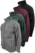 Mens Location Full Zip Warm Polar Fleece Jacket Anti Pill Work Winter Coat New