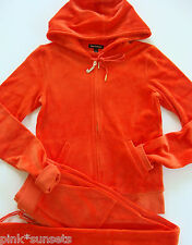 Juicy Couture Velour J Bling Hoodie Pocket Pant Tracksuit Red Firecracker M S