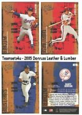 2005 Donruss Leather and Lumber Baseball Set ** Pick Your Team **