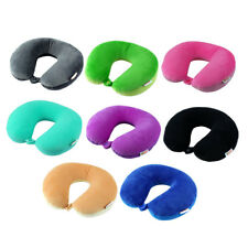 Travel Foam Particles Filled U Shape Neck Protector Support Cushion Head Pillow