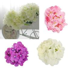 20 Heads Hydrangea Artificial Silk Flower Head Hair Clip DIY Crafts Wedding Deco