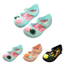Children Kids Baby Grils Buckle Hollow Pineapple Soft Sandals Flat Jelly Shoes