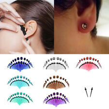 36pcs Tapers and Plugs Acrylic Tunnels Ear Stretching Stretcher Expander Kit DY