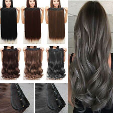 Real Thick One Piece Clip in Full Head Hair Extensions Extensions As Human Hair
