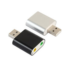 Audio Adapter 3D Sound card 7.1 USB To 3.5mm mic headphone Jack Stereo Headset