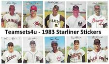 1983 Starliner Stickers Baseball Set ** Pick Your Team **