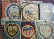 CHOOSE ONE: NEW BERLIN CO.COUNTED CROSS STITCH/STITCHERY KITS WITH HOOPS/FRAMES