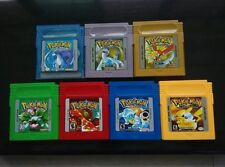 1/7 Pcs New Game Cards For Nintendo Pokemon GBC Game Boy Color Version Yellow