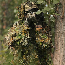 Tactical 3D Leaf Suit Ghillie Sniper Hunting Birdwatching Camouflage Poncho DY