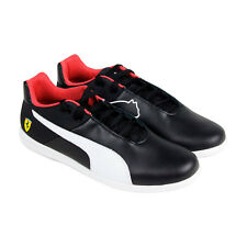 Puma Sf Future Cat Casual Mens Black Leather Lace Up Lace Up Sneakers Shoes