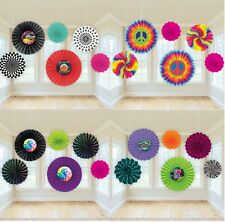 Decade Party PAPER FAN HANGING DECORATIONS (50s/60s/70s/80s)