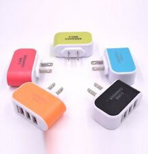 Portable 3-Port USB Home Travel AC LED Power Charger Adapter 3.1A For iPhone
