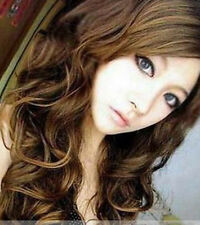 Sexy Stylish Fashion women's Long Curly hair Full wig 3 Color Wigs + wig Cap