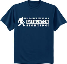 Big and tall t-shirt funny saying Sasquatch yeti big foot decal tee shirt men's