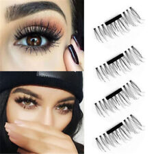 3D Magnetic 4pcs False Eyelashes No Glue Handmade Natural Extension Eye Lashes C