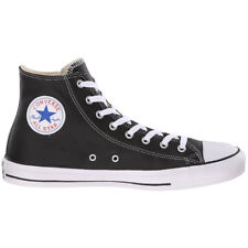 Converse Chuck Taylor All Star HI Leather Women's Shoes Black Sneaker NEW 1S 581