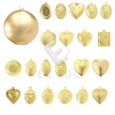 New Gold Metal Pendants Charm Jewelry Makings Round/Oval/Heart/Hexagon/Rectangle