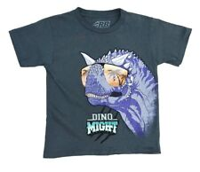 "RB Rudeboyz Grey ""Dino Might"" Graphic T-Shirts Little Boys Medium (5/6)"
