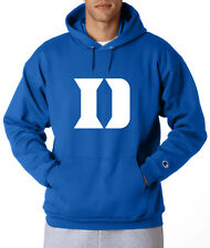 Duke Blue Devils D Logo Champion Hoodie Pullover Sweatshirt Mens New Royal Blue