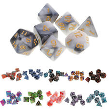 7-Die Polyhedral Dice Complete Dice set 16mm for Dungeons and Dragons RPG Games