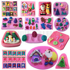 3D DIY Creative Christmas Silicone Mould Chocolate Cake Decorating Tool Mold