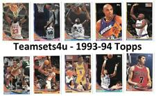 1993-94 Topps Basketball Set ** Pick Your Team **