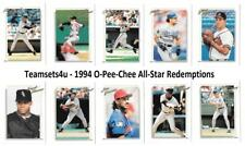 1994 O-Pee-Chee (OPC) All-Star Redemptions Baseball Set ** Pick Your Team **