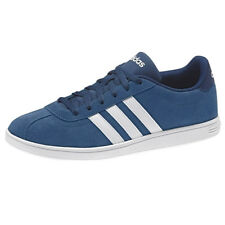 Adidas vlcourt Low Sneaker Blue Men's Shoes Trainers Leather NEW B74457 Campus