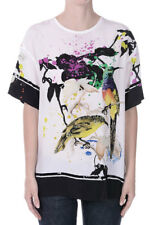ROBERTO CAVALLI New Woman T-shirt Embroidery Silk Top Made in Italy