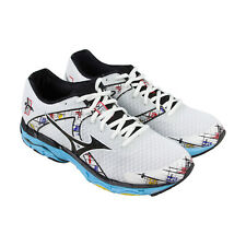 Mizuno Wave Inspire 10 Womens White Mesh Athletic Lace Up Running Shoes