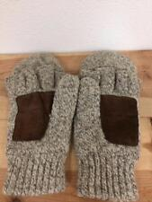 Pre-owned Tweed Wool Brown Suede GLOMITTS Glove Mittens Men's Sz M FREE USA SHIP