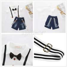 2Pcs Baby Boys Short Sleeve T-Shirt+Jeans Pants Set Kids Summer Clothes Outfits