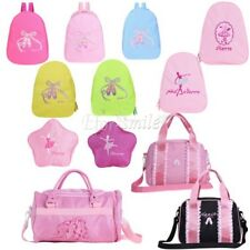 Kids Girl Ballet Dance Backpack Toe Shoes Embroidered Shoulder School Travel Bag