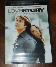 Love Story (DVD, 2001) Ryan O'Neal/Ali Macgraw!
