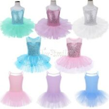 Girls Ballet Dance Dress Toddler Tutu Skirt Dancewear Gymnastics Leotard Costume