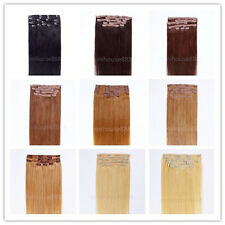 """One * 20"""" Remy Human Hair Clip In Extensions 7pcs & 70g, 23 colors available"""