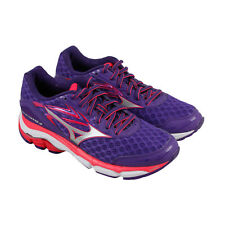 Mizuno Wave Inspire 12 Womens Purple Synthetic Athletic Lace Up Running Shoes