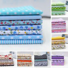 25cm*25cm Cotton Fabric Cloth For DIY Crafts Sewing 7PCS Assorted Pattern Floral