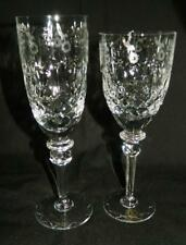 "2 pc Rogaska Crystal Gallia 7 3/4"" Wine Glass + 8 1/4"" Champagne Flute Free Ship"