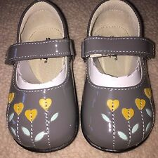 NEW See Kai Run Tricia Mary Janes Gray Patent Leather 6 7.5 8.5 Shoes Girls