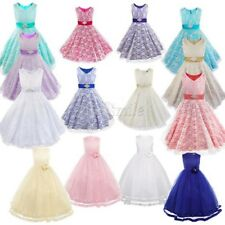 Flower Girl Dress Princess Kid Pageant Communion Wedding Bridesmaid Formal Party