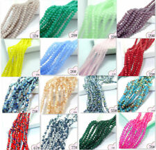 Wholesale 200pcs Faceted Glass Crystal Charms Rondelle Loose Spacer Beads 3mm