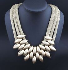 Women's Crystal Chunky Statement Bib Pendant Chain Choker Collar Necklace Party